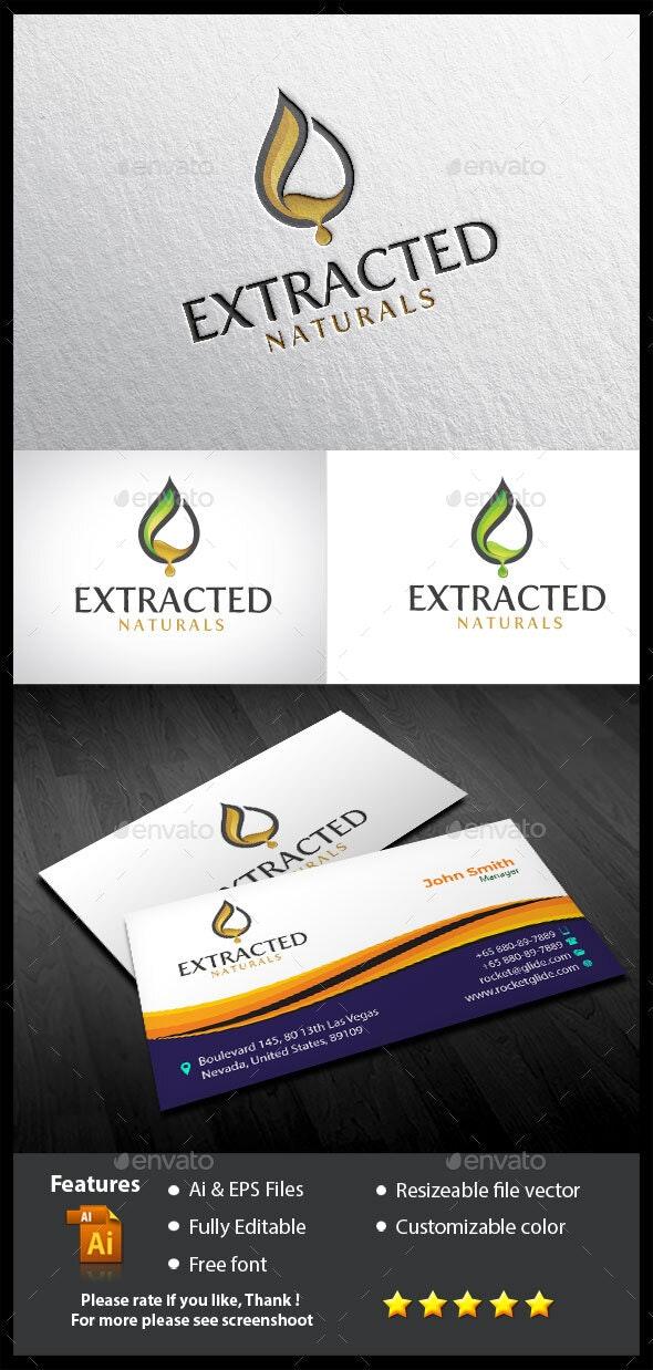 Extracted Naturals Logo - Nature Logo Templates