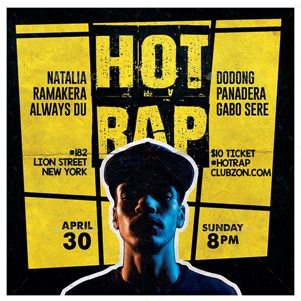 Hot Rap Flyer
