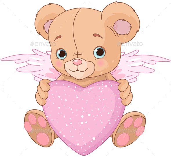 Teddy Bear with Heart - Animals Characters
