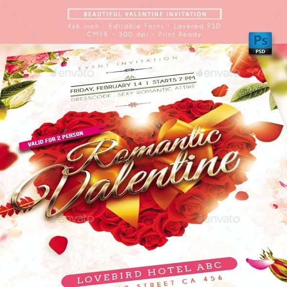 Beautiful Valentine Invitation