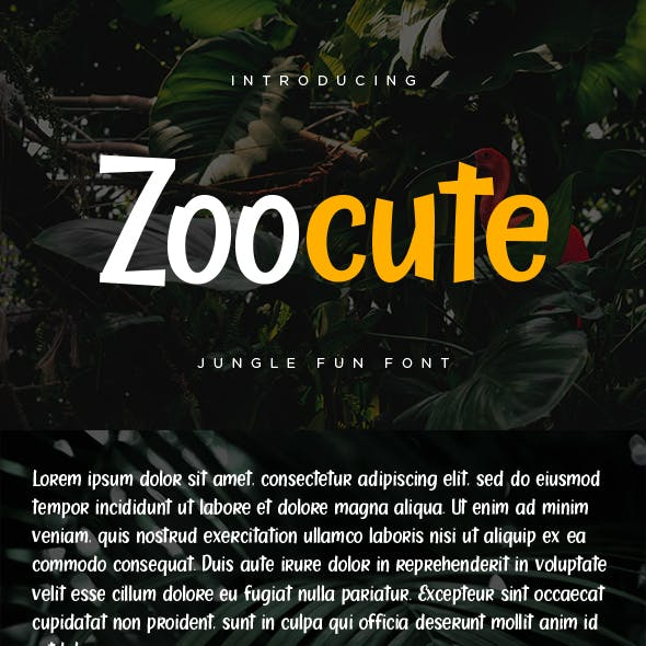 Zoocute Jungle Fun Font