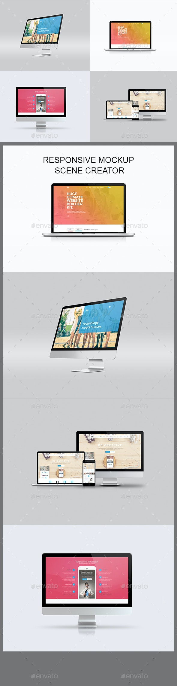 Responsive Mockup Designer - Laptop Displays