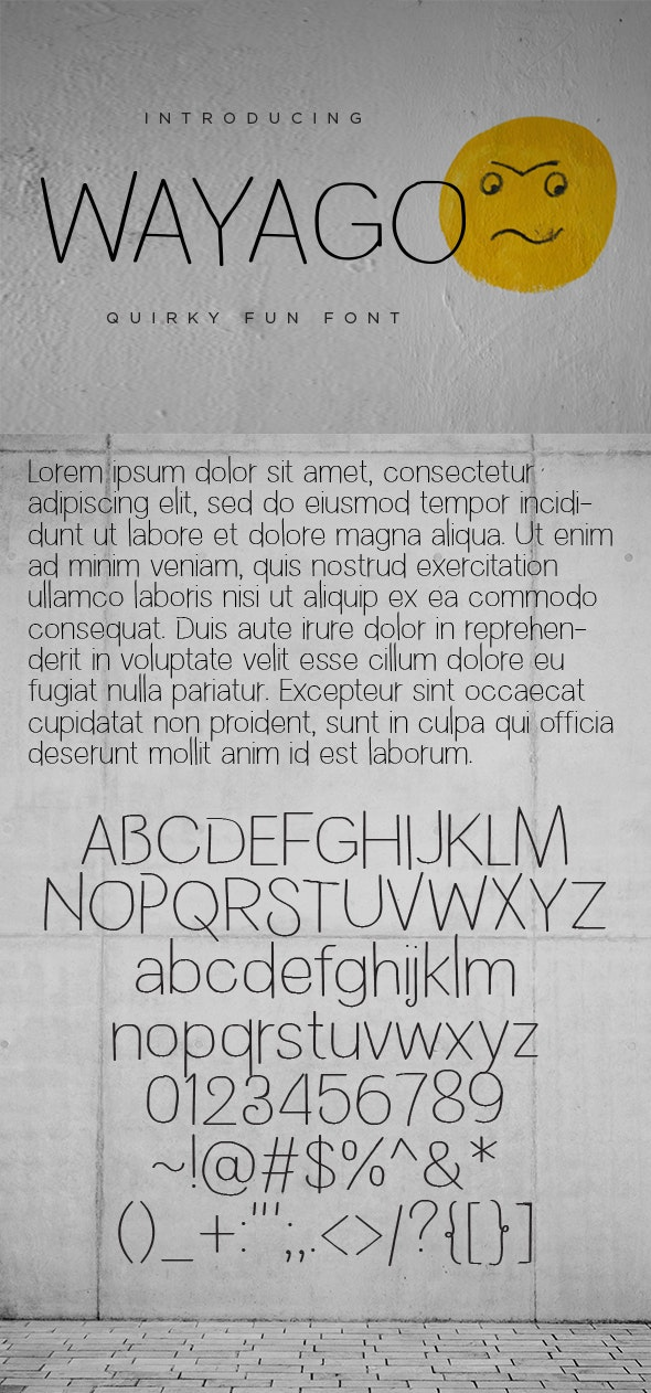 WAYAGO - Quirky Fun Sans Serif Font - Sans-Serif Fonts