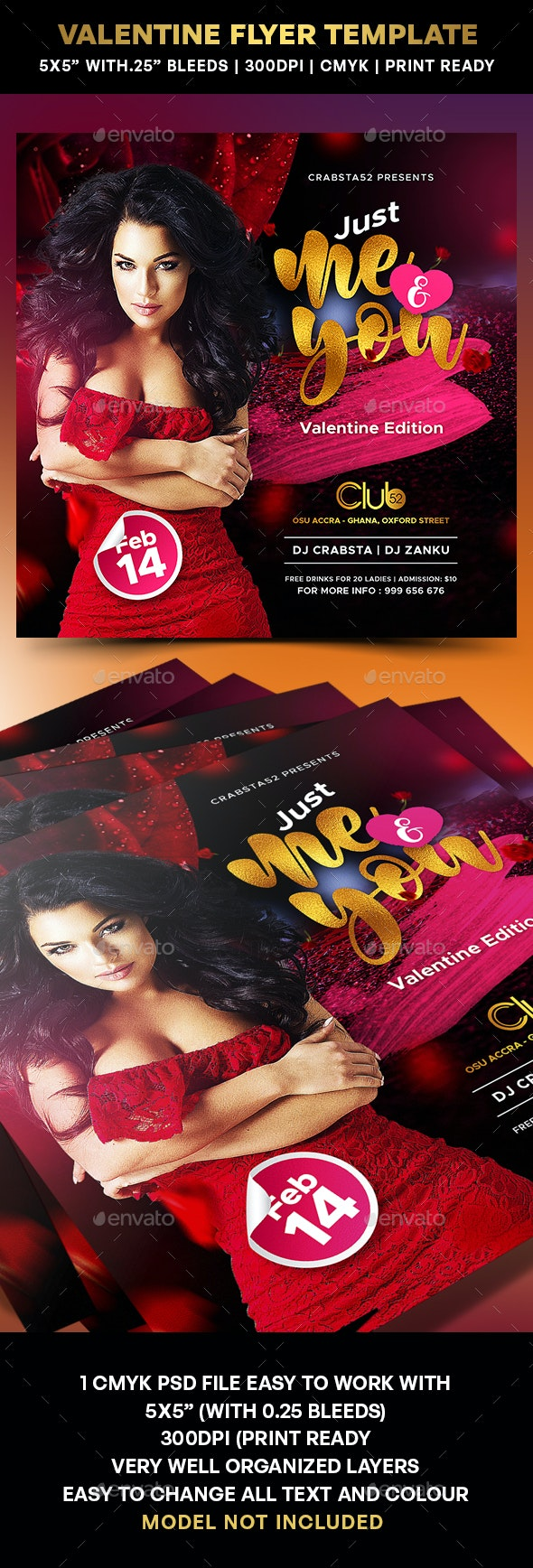 Valentine Flyer Template - Flyers Print Templates