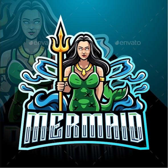 Mermaid Esport Mascot