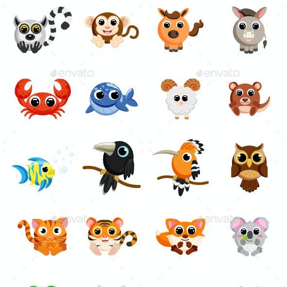 Set of Animals Clipart