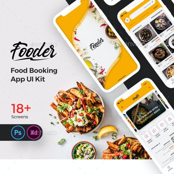Fooder Mobile App UI Kit