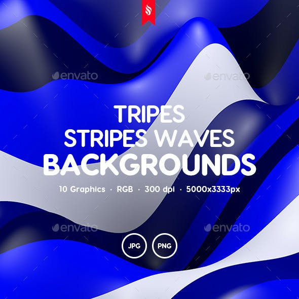 Tripes - Colored Stripes Waves Backgrounds