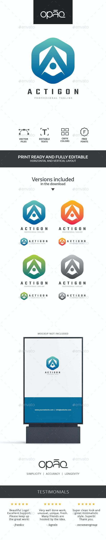 Hexagon A Letter Logo - Letters Logo Templates