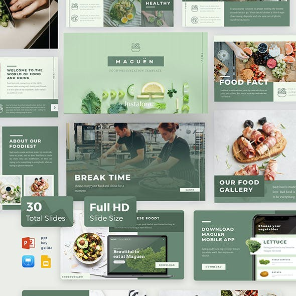 Maguen Food Powerpoint Template