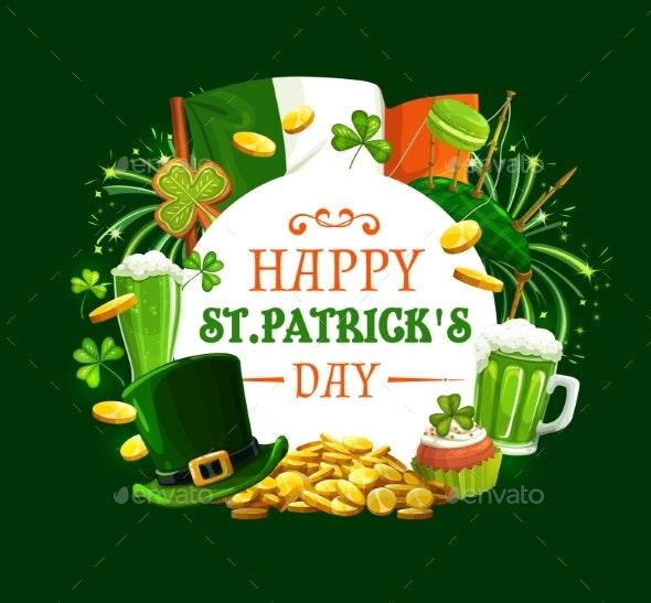 Frame of Patricks Day Holiday Symbols - Miscellaneous Seasons/Holidays