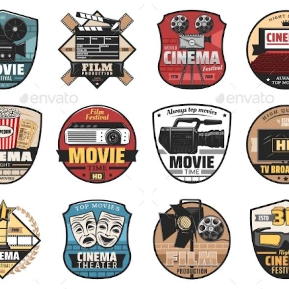 Cinema, Movie and Film Icons
