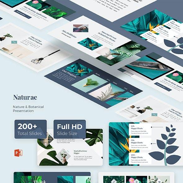 Naturae Minimal & Nature Google Slide Template