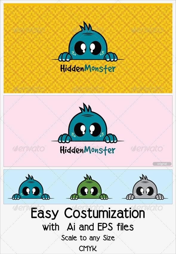 Hidden Monster - Animals Logo Templates