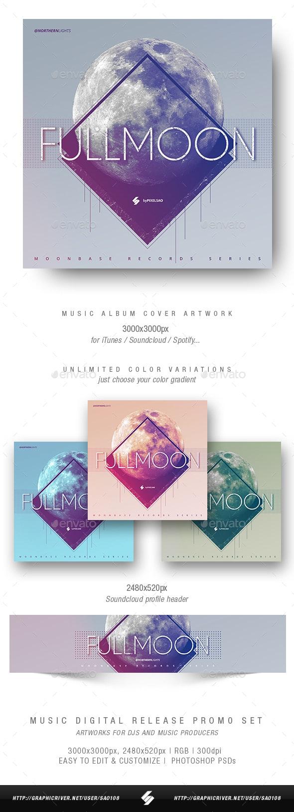 Full Moon - Music Album Cover Artwork Template - Miscellaneous Social Media