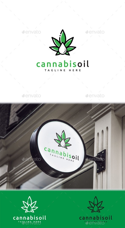 Cannabis Oil Logo - Nature Logo Templates