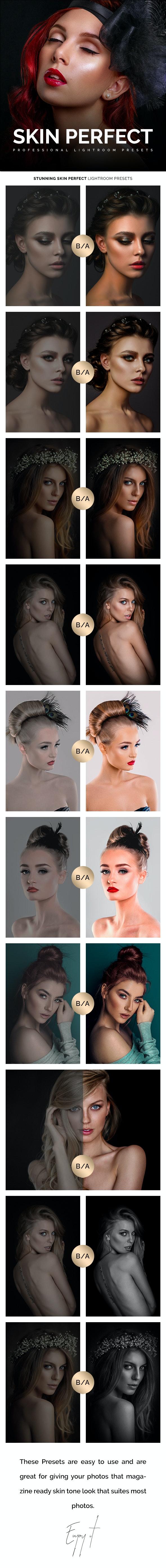 Professional Skin Perfect Lightroom Presets - Portrait Lightroom Presets