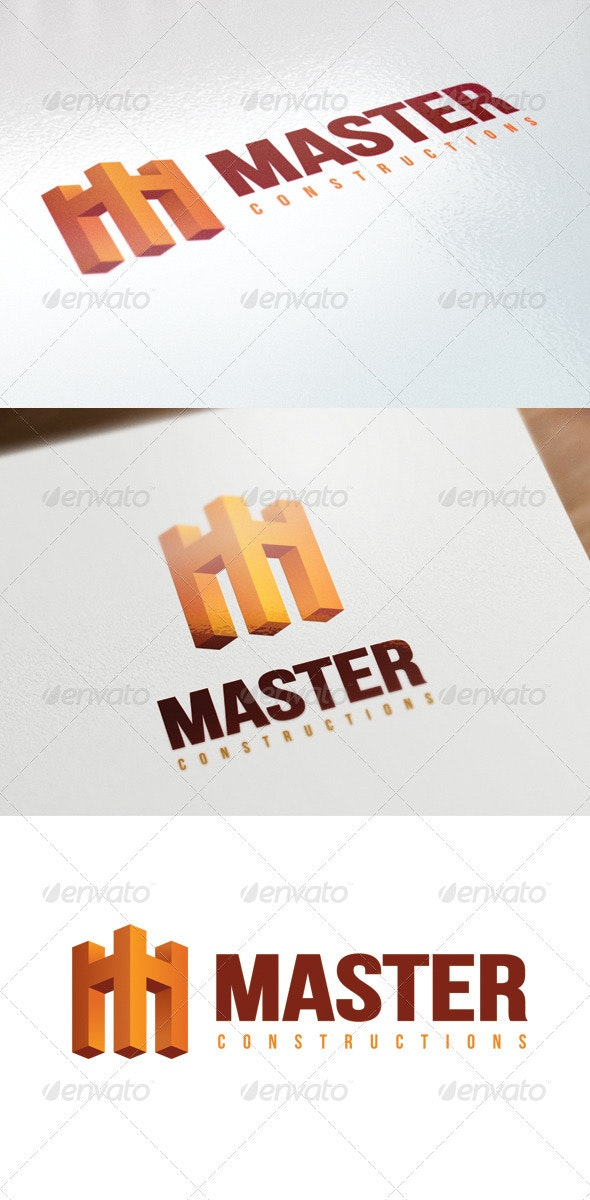 Master Construction Logo - Letters Logo Templates