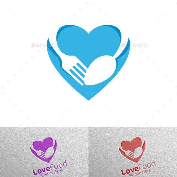 Love Food Restaurant Logo