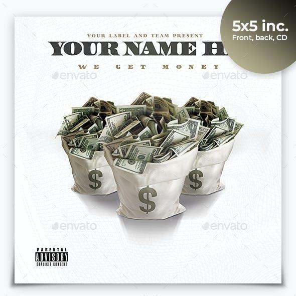 Trap Money CD Mixtape Rap Album Cover Template