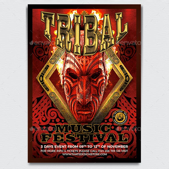 Tribal Music Festival Flyer Template