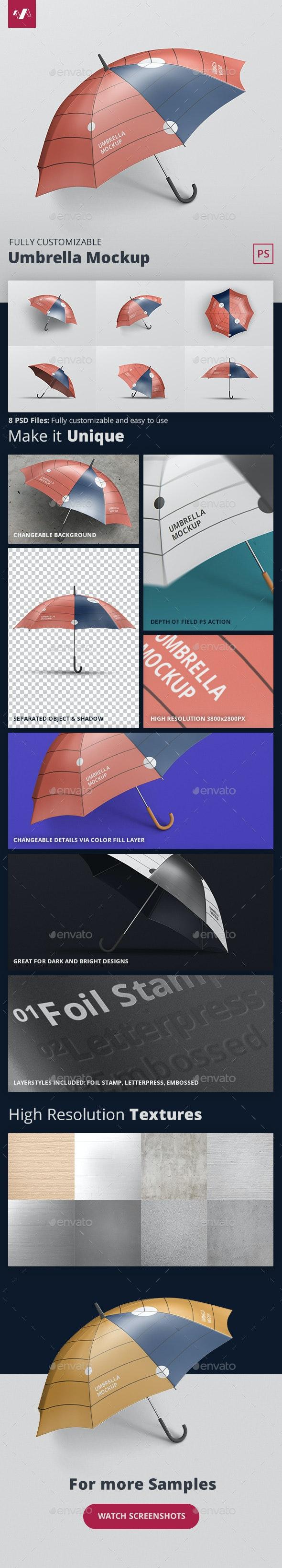 Umbrella Mockup - Miscellaneous Print
