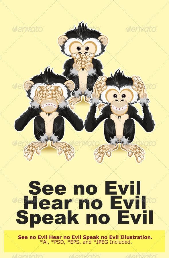 Speak, Hear, See no Evil - Conceptual Vectors