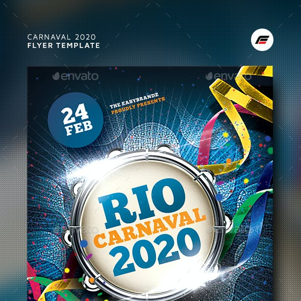 Carnaval 2020 Flyer Template
