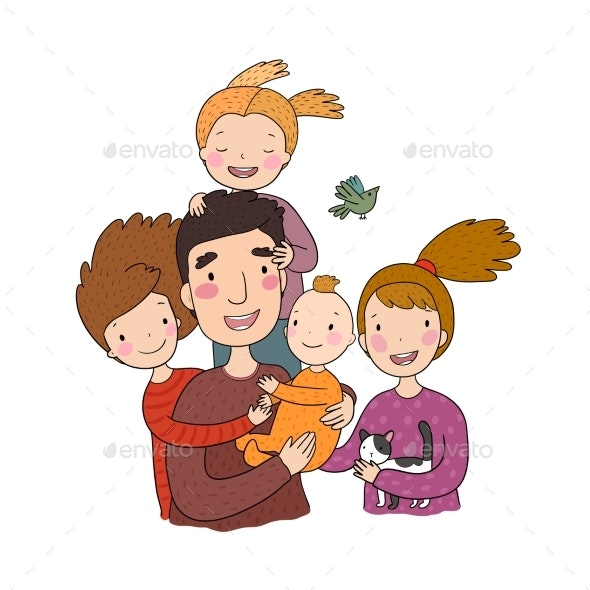 A Happy Family - People Characters