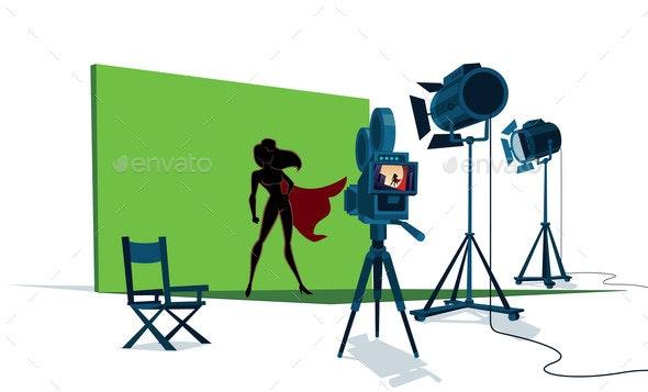 Superheroine Movie Set - People Characters