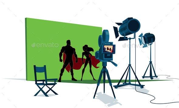 Superhero Couple Movie Set - Industries Business