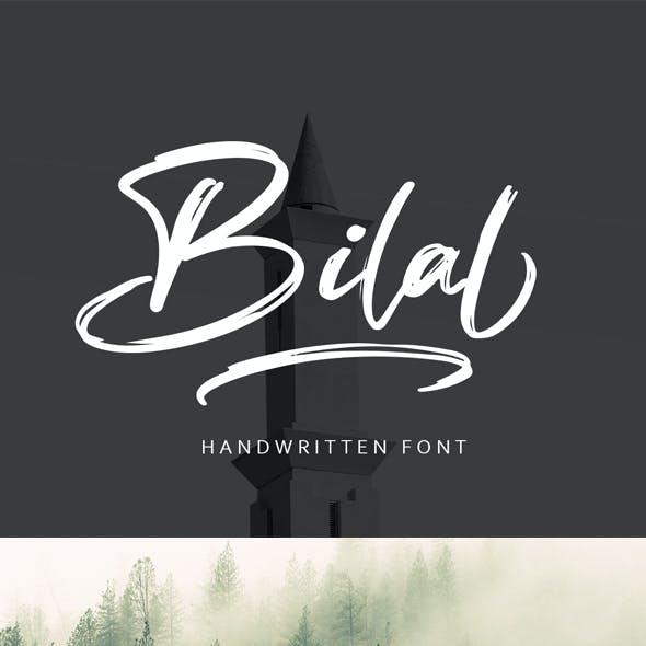 Bilal Brush Handwritten Font