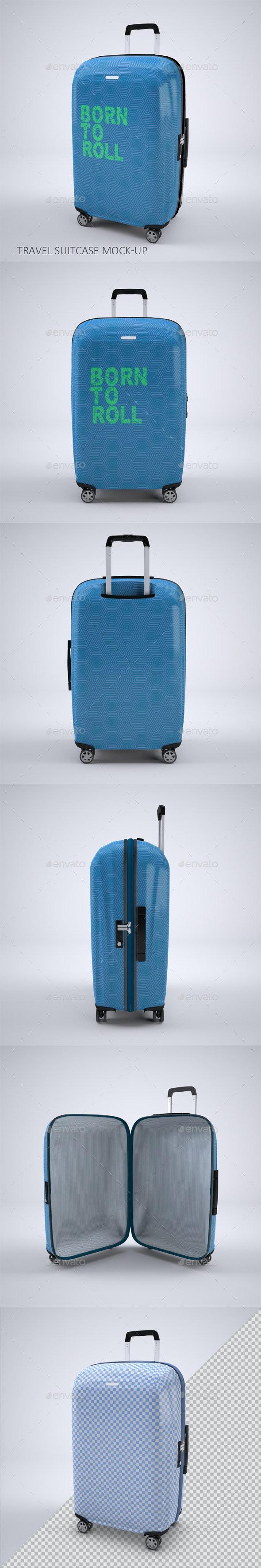 Travel Suitcase Mock-up - Product Mock-Ups Graphics
