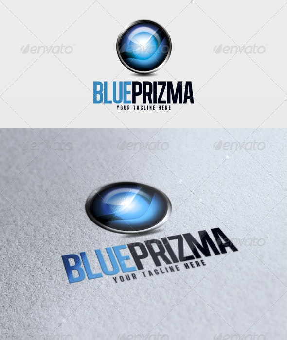 Blue Prizma Logo - 3d Abstract