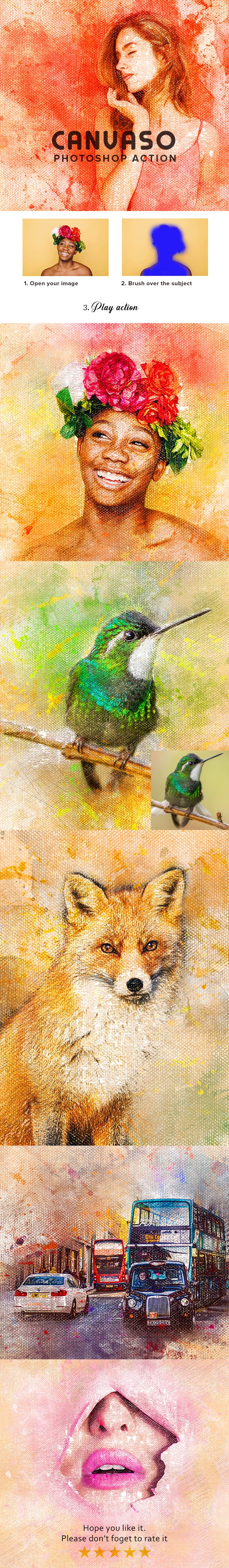 Canvaso Photoshop Action - Photo Effects Actions