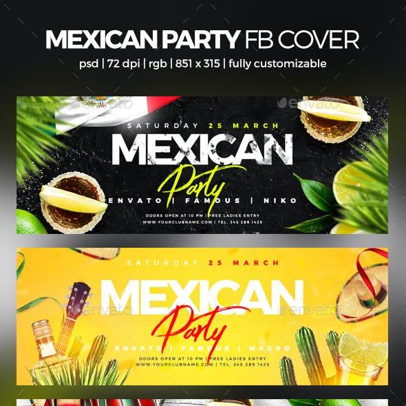 Mexican Party Facebook Cover