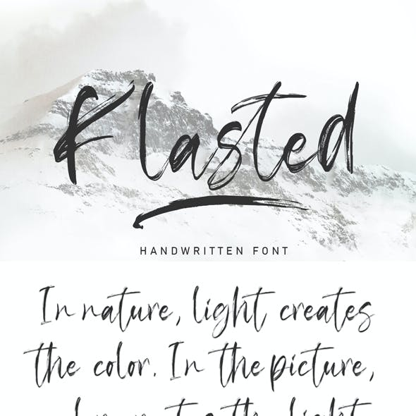 Klasted Brush Font