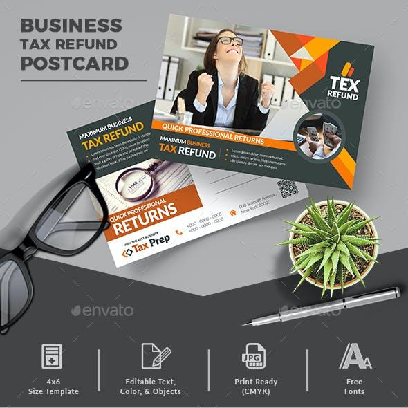 Business Tax Refund Postcard
