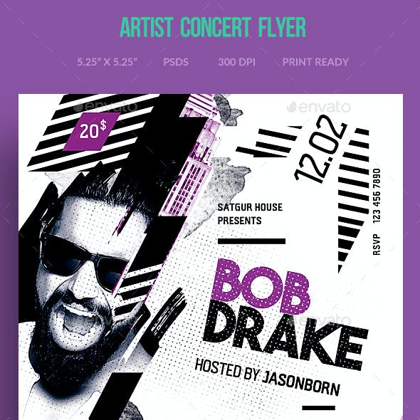 Artist Concert Flyer