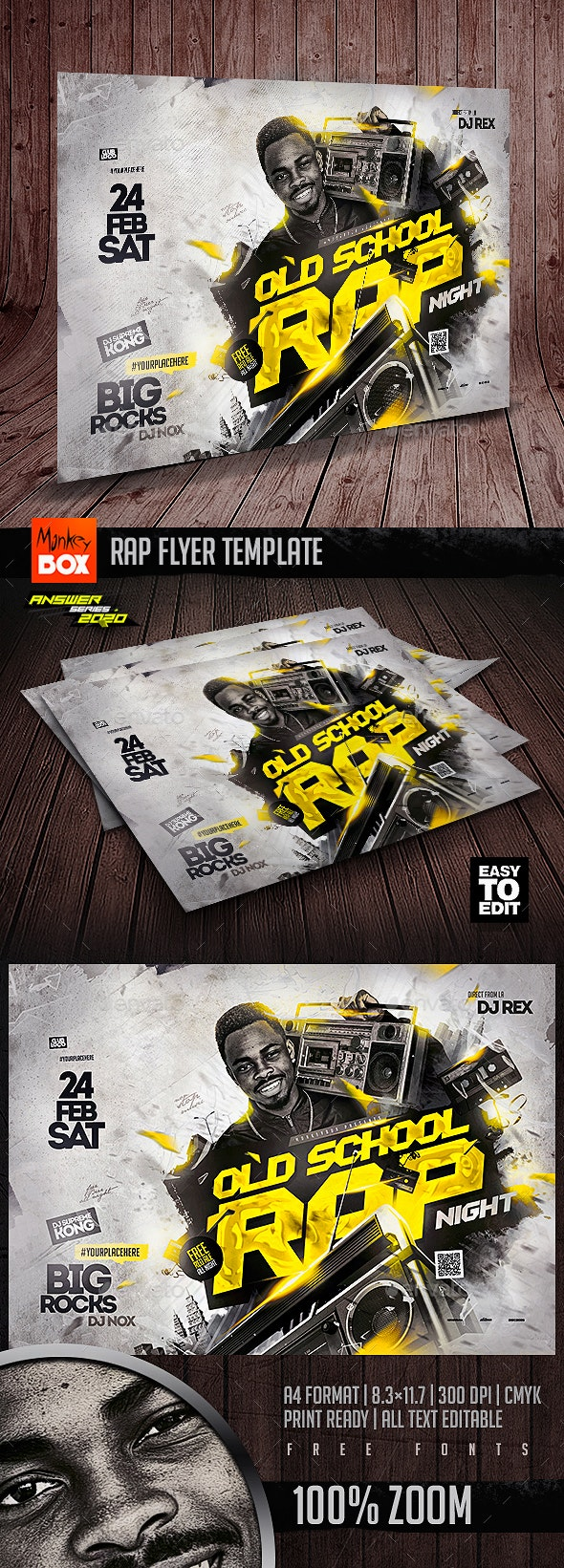 Rap Flyer Template - Clubs & Parties Events