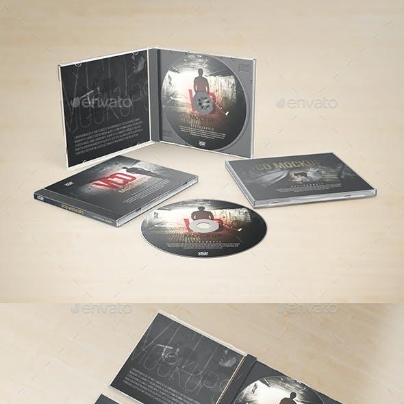 Realistic CD VCD Jewel Case Mockups