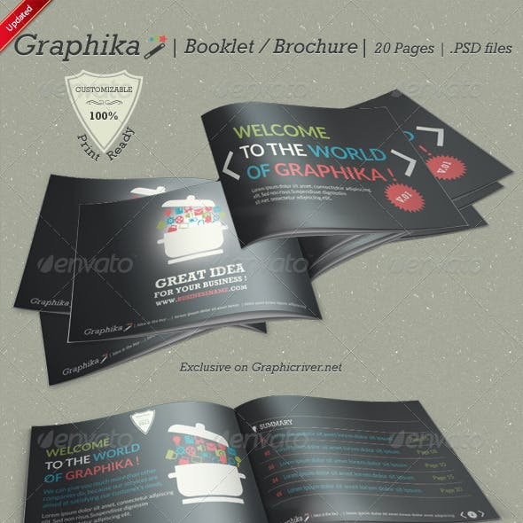 Graphika Booklet / Brochure - 20 Pages