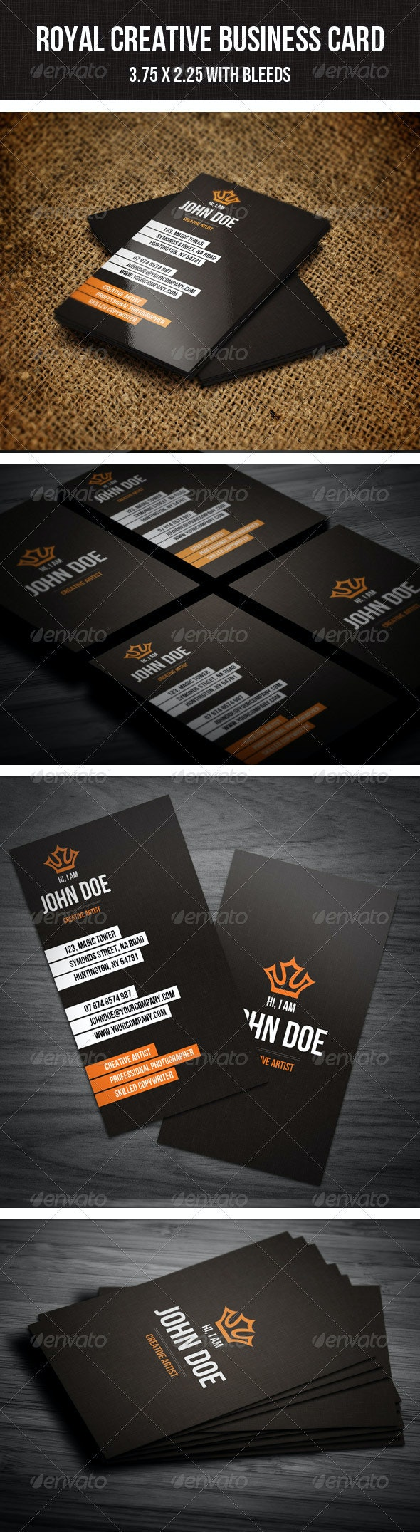 Royal Creative Business Card - Corporate Business Cards