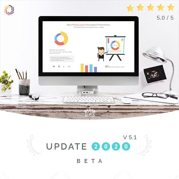 Beta Multipurpose Powerpoint Presentation Template | 2020 Update | Version 5.1