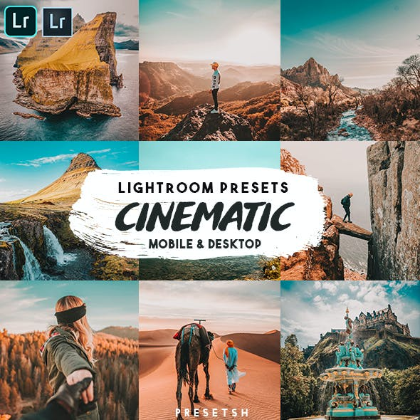 Cinematic insta Lightroom Presets
