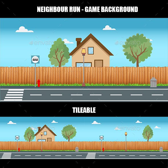 Neighbour Run - Game Background
