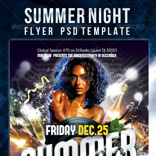 Summer Night - Flyer PSD Template