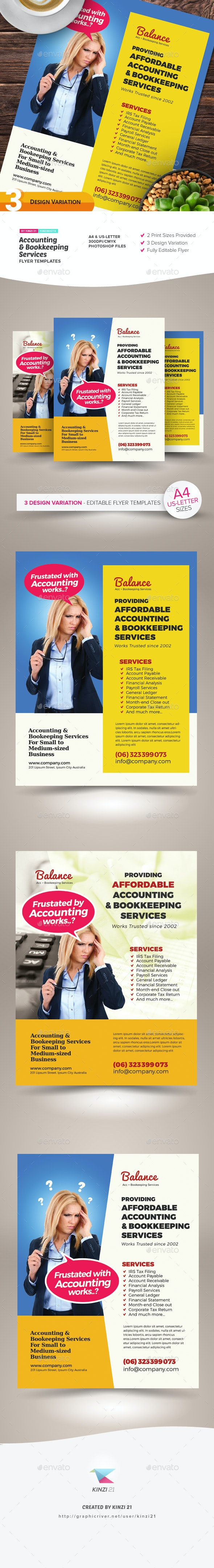 Accounting & Bookkeeping Services Flyers - Corporate Flyers