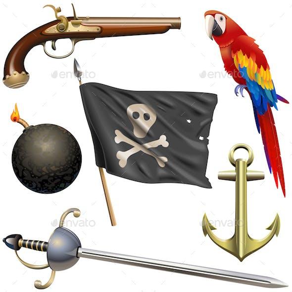 Vector Pirate Accessories Set