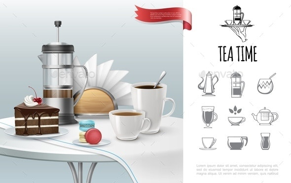 Tea Time Concept - Food Objects